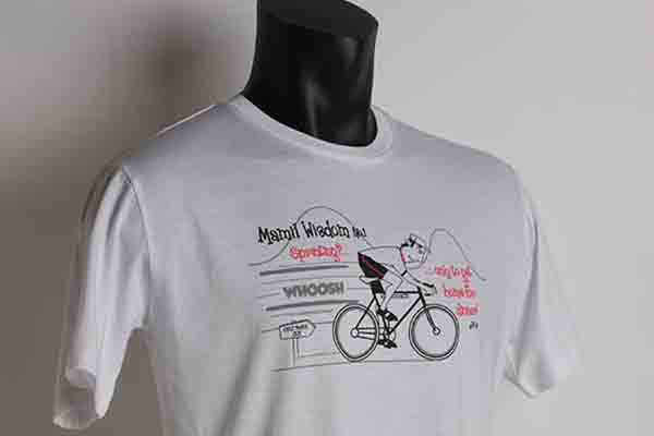 PRINTED T-SHIRTS FOR CHIC MAMIL CYCLING AND MIDDLE AGED MAN IN LYCRA