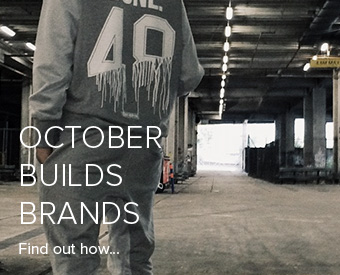 October builds brands