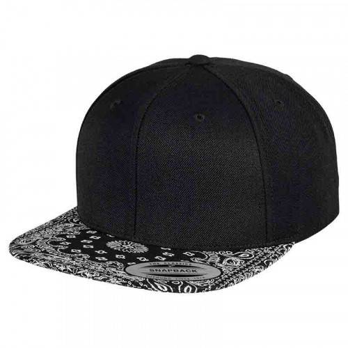 Fashion print snapback cap